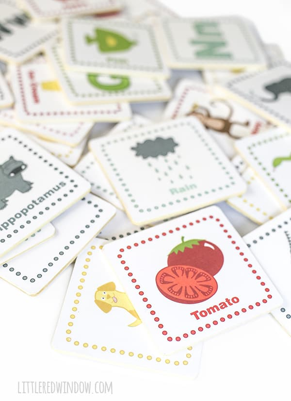 DIY Alphabet Tiles with free printable! | littleredwindow.com