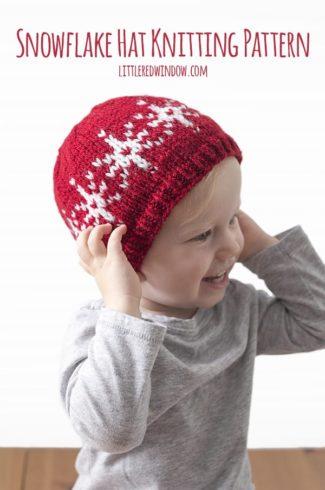 Fair Isle Snowflake Hat Knitting Pattern