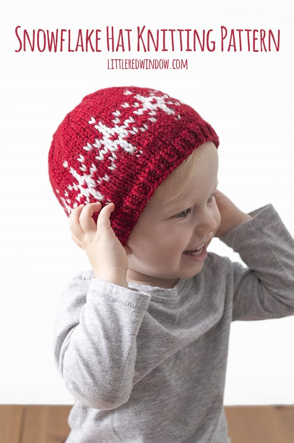 Fair Isle Snowflake Hat Knitting Pattern Little Red Window