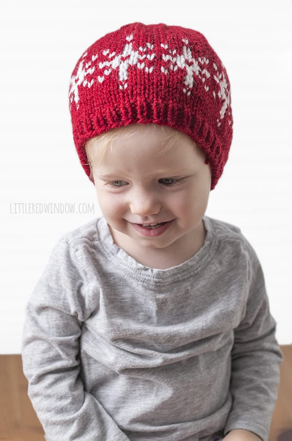 Fair Isle Snowflake Hat Knitting Pattern - Little Red Window