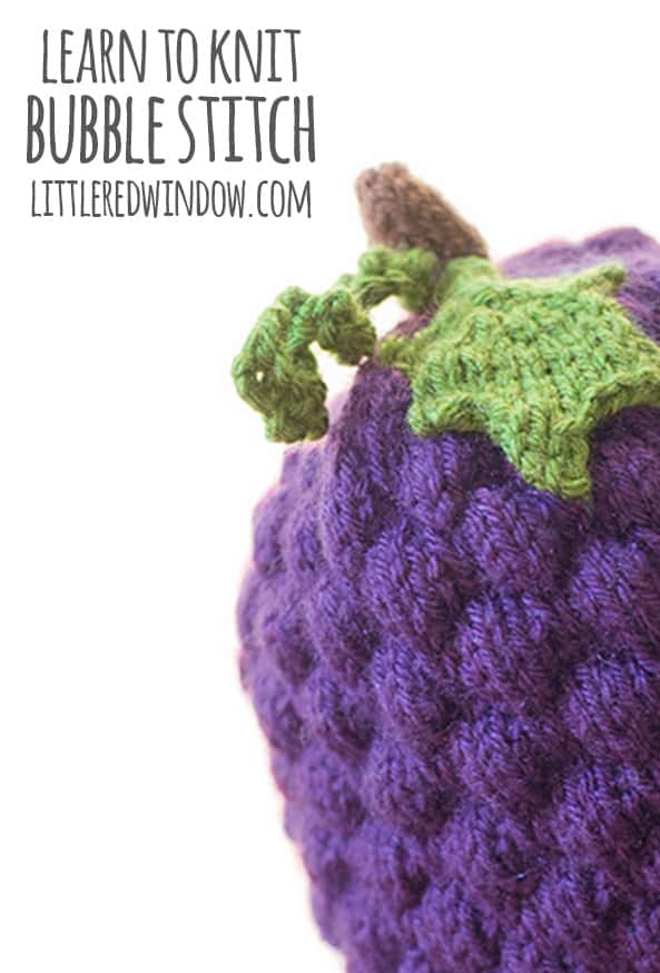 Learn to Knit – Bubble Stitch