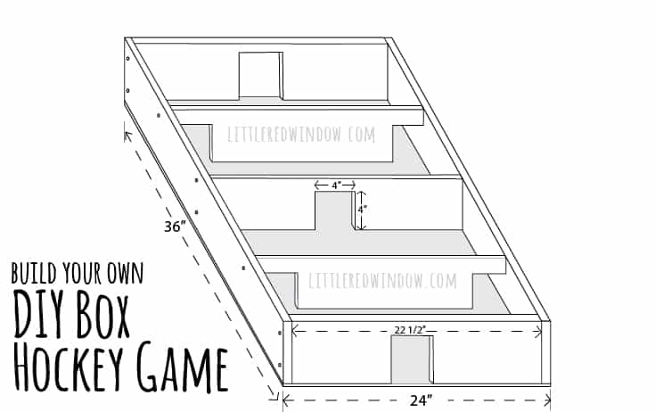 Build and play your own DIY Box Hockey Game all you need are two popsicle sticks and a bottlecap! | littleredwindow.com