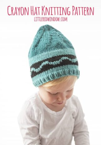 Crayon Hat Knitting Pattern