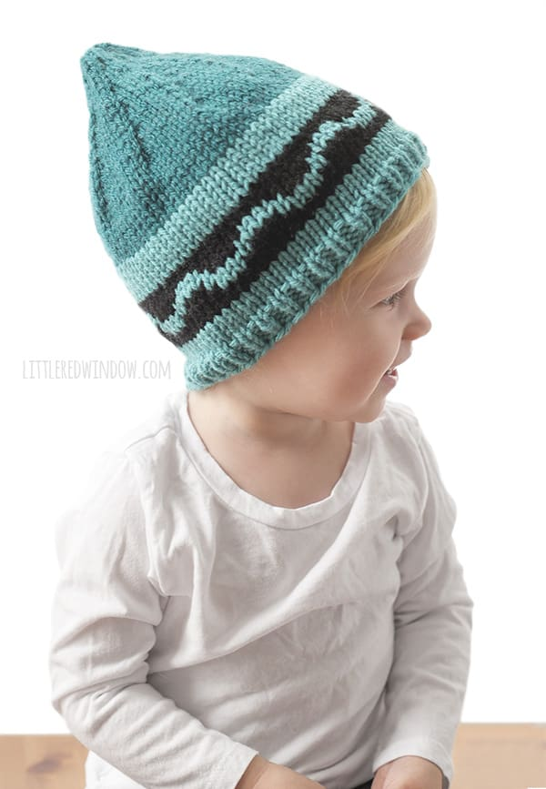 Crayon Hat Knitting Pattern for newborns, babies and toddlers! | littleredwindow.com