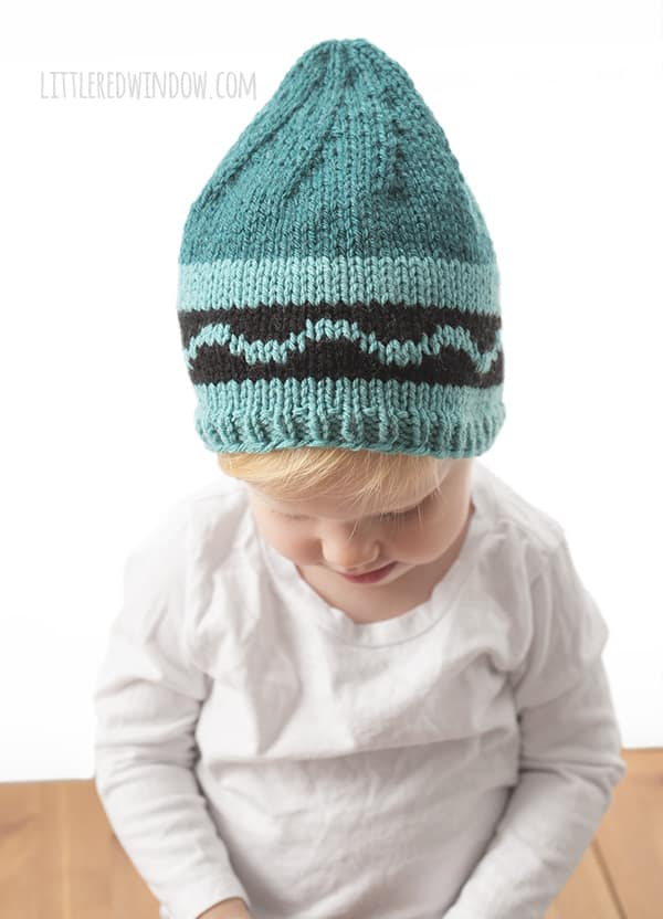 Crayon Hat Knitting Pattern for newborns, babies and toddlers!   littleredwindow.com