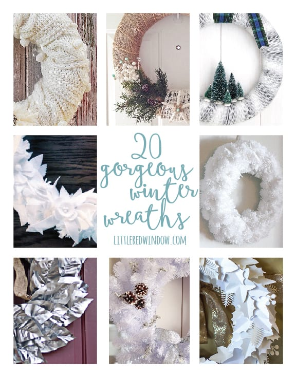20 Gorgeous DIY Winter Wreaths that you can keep up all season long! | littleredwindow.com