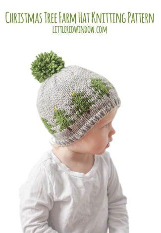 Fair Isle Christmas Tree Farm Hat Knitting Pattern