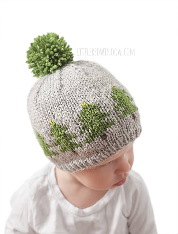 Fair Isle Christmas Tree Farm Hat Knitting Pattern - Little Red Window