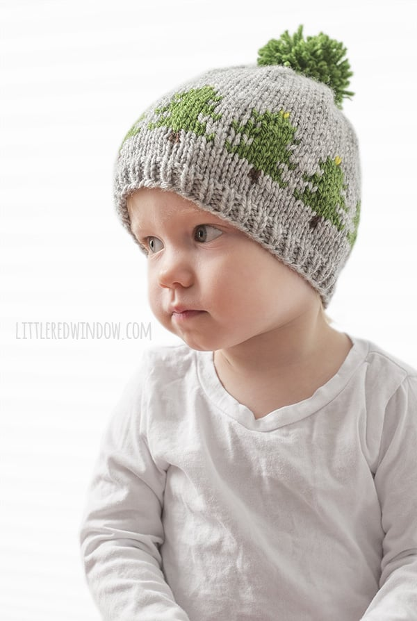 Christmas Tree Farm Hat Knitting Pattern, a fair isle knitting pattern for newborns, babies and toddlers! | littleredwindow.com