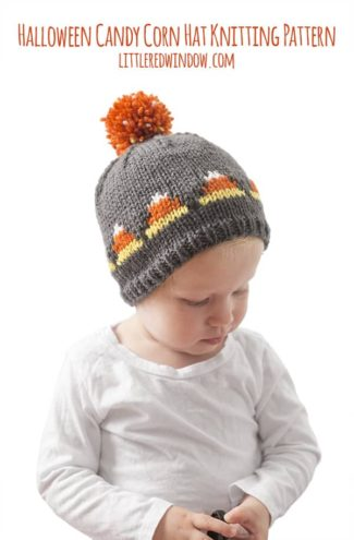 Fair Isle Candy Corn Hat Knitting Pattern