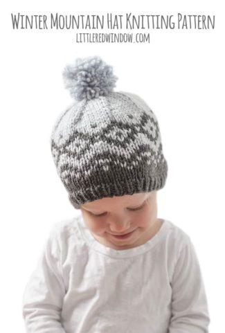 Winter Mountain Hat Fair Isle Knitting Pattern