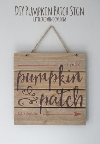 DIY Fall Pumpkin Patch Sign