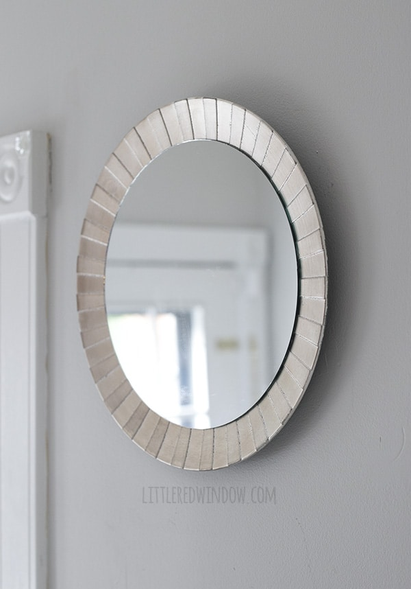 Five Minute DIY Starburst Mirror (yes, it really only takes five minutes!) | littleredwindow.com