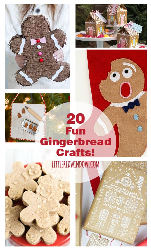 20 Fun and Spicy Gingerbread Crafts you can make yourself! | littleredwindow.com