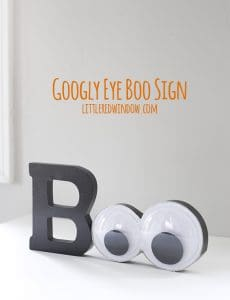 Giant Googly Eyes Halloween Boo Sign! | littleredwindow.com