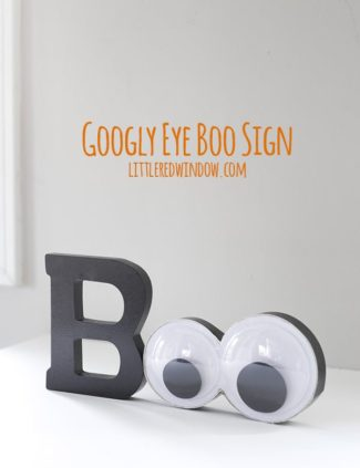 Giant Googly Eyes Halloween Sign