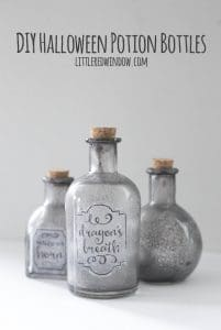 DIY Spooky Halloween Potion Bottles | littleredwindow.com