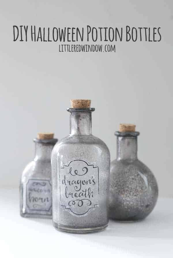 DIY Spooky Halloween Potion Bottles (FREE download!)