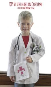 DIY Veterinarian Costume, perfect for your little animal lover for Halloween! | littleredwindow.com