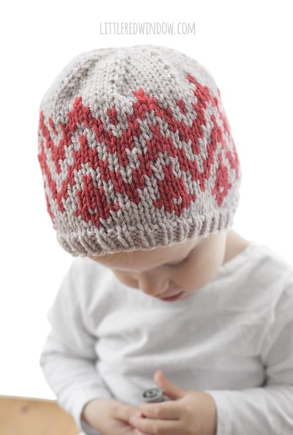 Ikat Hat Knitting Pattern for newborns, babies and toddlers! | littleredwindow.com