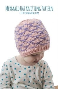 Mermaid Hat Knitting Pattern for your newborn, baby or toddler! | littleredwindow.com
