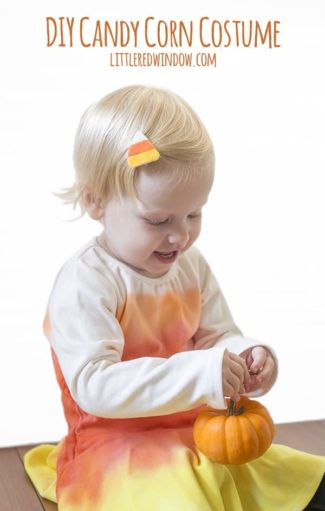 DIY Candy Corn Costume & Candy Corn Hair Clip