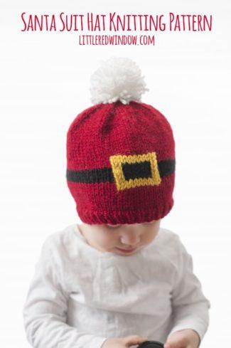 Santa Suit Hat Knitting Pattern