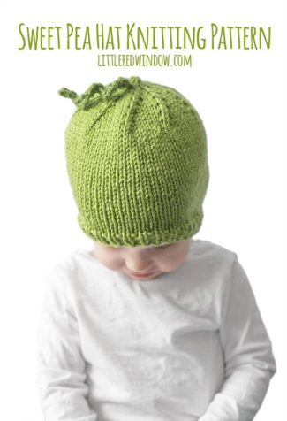 Sweet Pea Hat Knitting Pattern