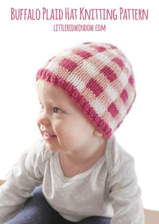 Buffalo Plaid Hat Fair Isle Knitting Pattern