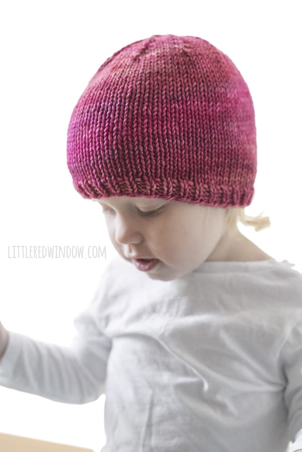3a63947ea5ac Basic Easy Baby Hat Knitting Pattern - Little Red Window