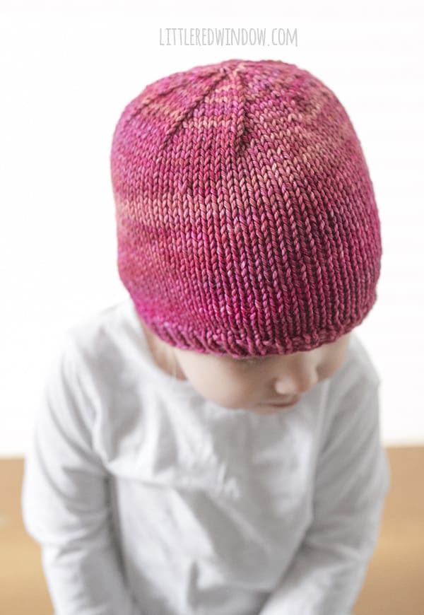 Basic Easy Baby Hat Knitting Pattern - Little Red Window
