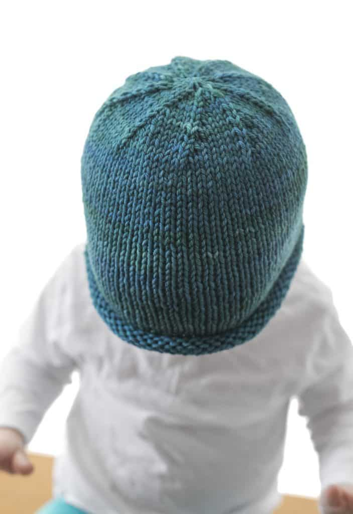 Basic Rolled Brim Baby Hat Knitting Pattern - Little Red Window 951fb8318d2
