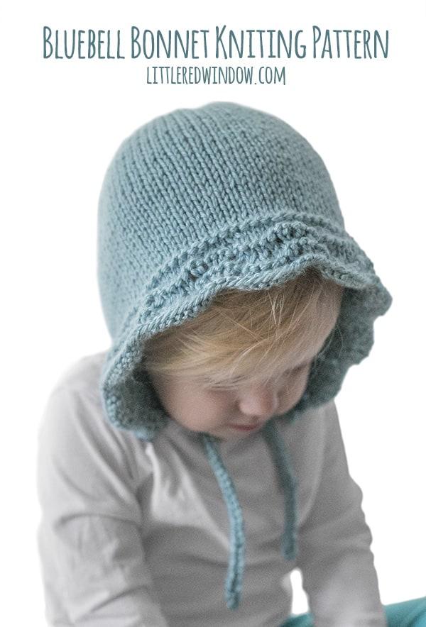 Bluebell Baby Bonnet Knitting Pattern Little Red Window