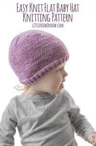 Easy Knit Flat Baby Hat Knitting Pattern for your newborn, baby or toddler,  perfect 7e34d7efe1b