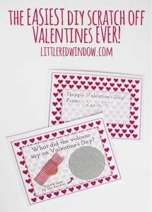 The EASIEST Scratch Off Valentines Day Cards EVER (with free printable)! | littleredwindow.com