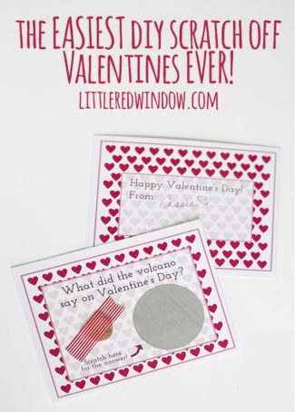 The Easiest Printable Scratch Off Valentine's Day Cards for Kids EVER!