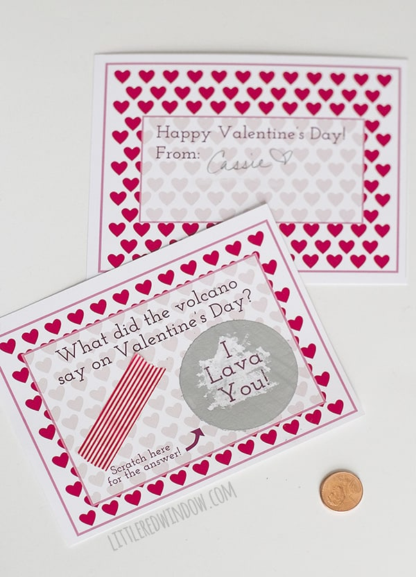 The EASIEST Scratch Off Valentines Day Cards EVER (with free printable)!   littleredwindow.com