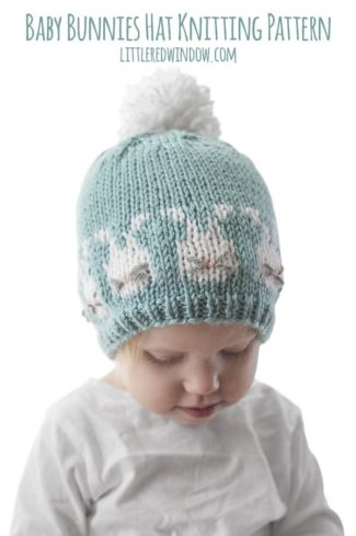 Easter Bunnies Hat Knitting Pattern