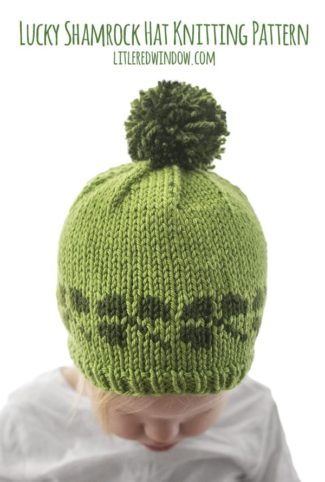 Lucky Shamrock Hat Knitting Pattern