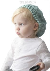 Slouchy Baby Hat Knitting Pattern for your newborn, baby or toddler! | littleredwindow.com
