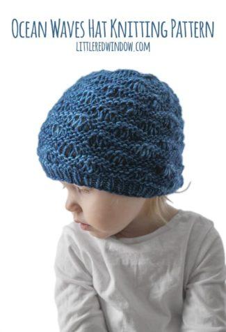 Ocean Waves Hat Knitting Pattern