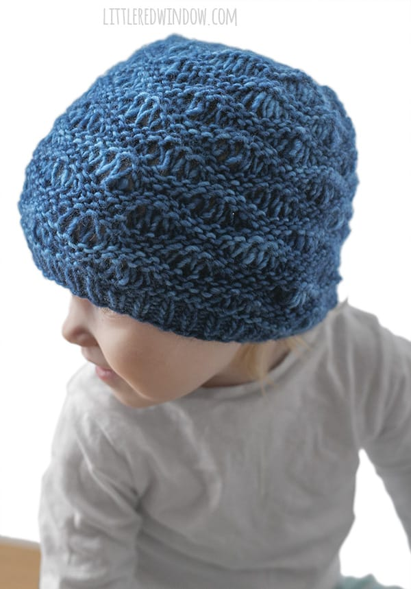 Ocean Waves Hat Knitting Pattern for newborns, babies and toddlers! | littleredwindow.com