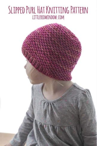 Slipped Purl Hat Knitting Pattern