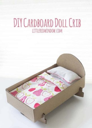Cardboard DIY Doll Crib