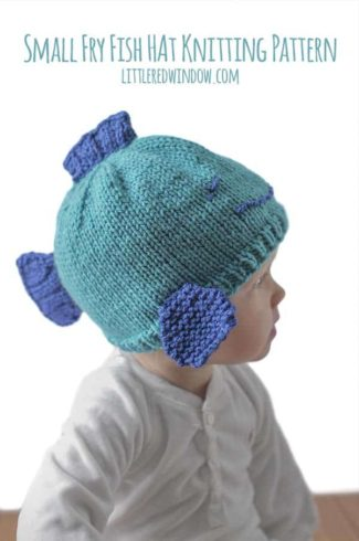 Small Fry Fish Hat Knitting Pattern