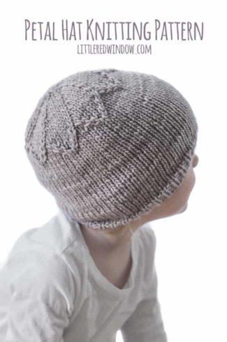 Petal Hat Knitting Pattern