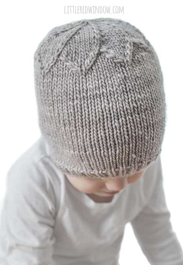 Petal Hat Knitting Pattern, a pretty pattern for newborns, babies and toddlers!