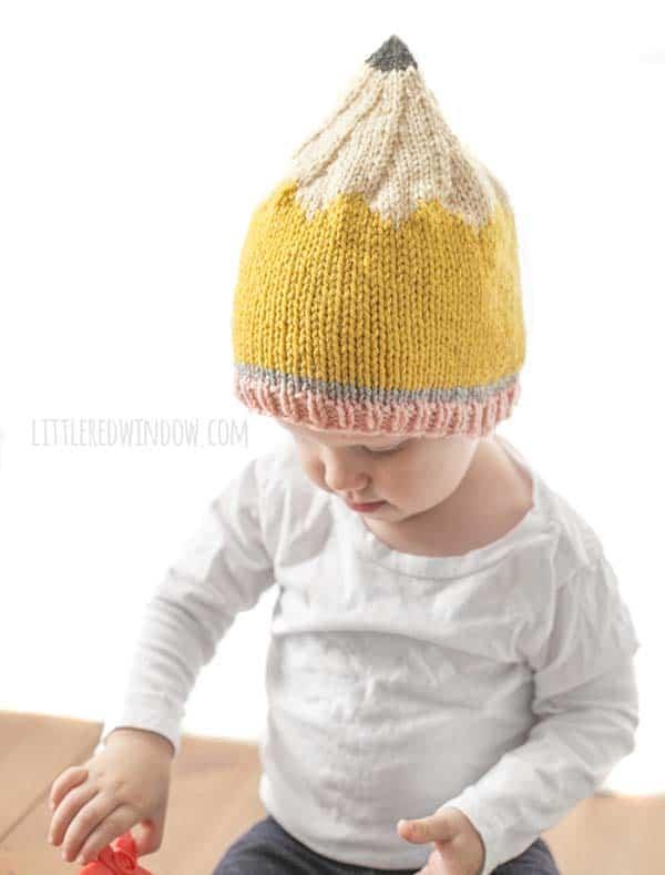 Pencil Hat Knitting Pattern - Little Red Window