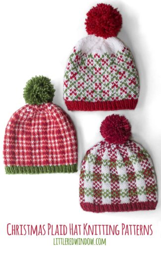 Christmas Plaid Hat Knitting Patterns