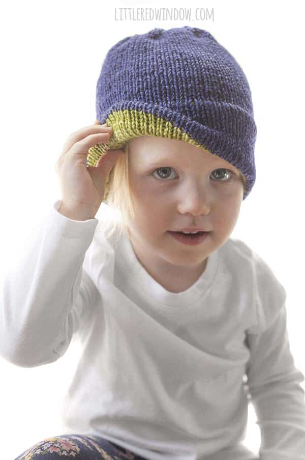 a47137314f1 Super Cozy Double Brim Hat Knitting Pattern - Little Red Window